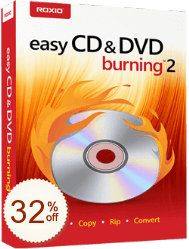 Roxio Easy CD & DVD Burning Discount Coupon