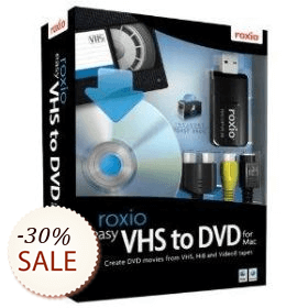 Roxio Easy VHS to DVD for Mac Discount Coupon