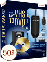Roxio Easy VHS to DVD Discount Coupon