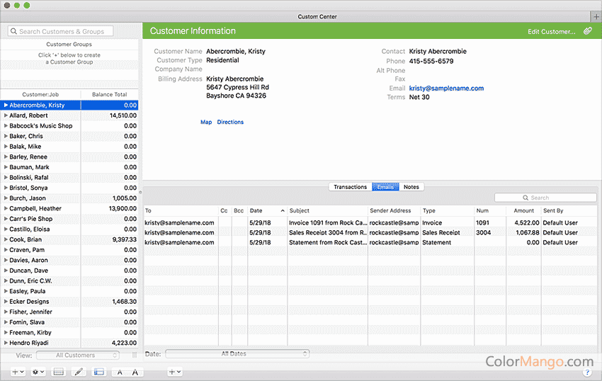 QuickBooks Mac Desktop Bildschirmfoto
