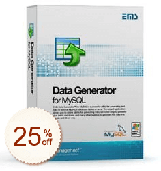 EMS Data Generator for MySQL Up to 20% OFF Cross-Sell Discount