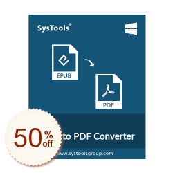SysTools EPUB to PDF Converter Discount Coupon