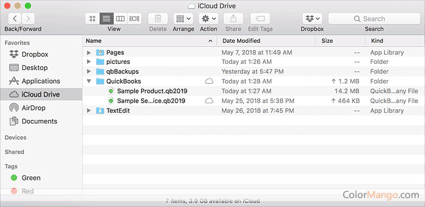 QuickBooks Mac Desktop Screenshot
