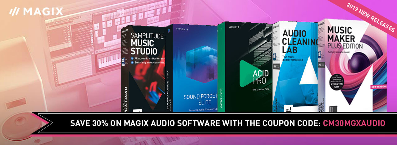 30% off all MAGIX audio software (excluding sale items)
