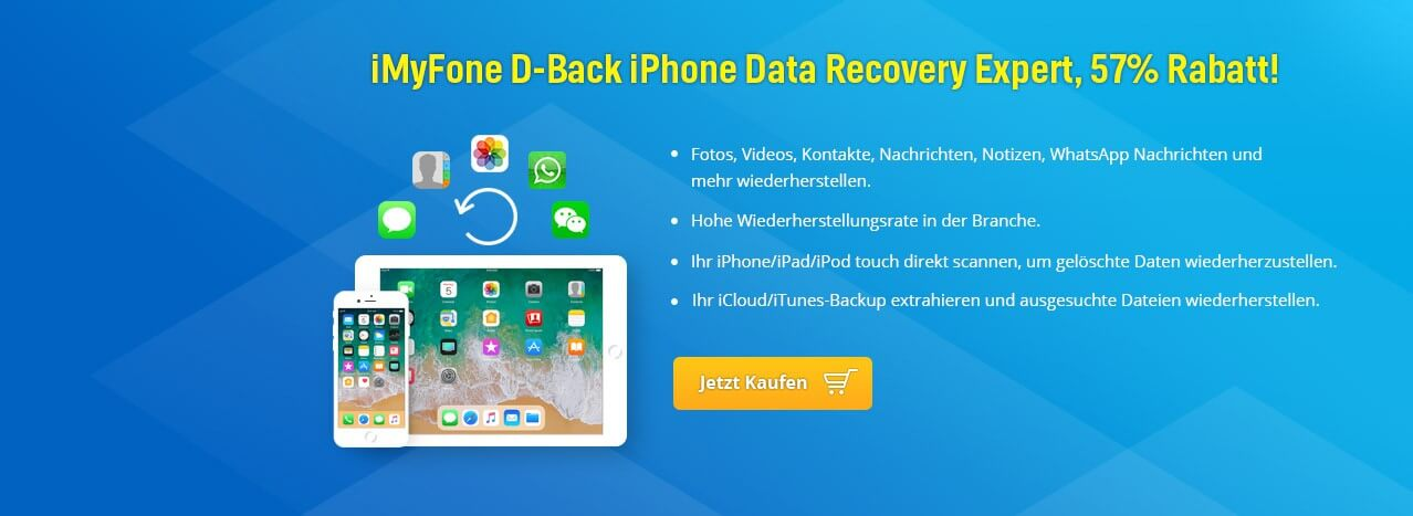 iMyFone D-Back iPhone Data Recovery Expert, 57% Rabatt!
