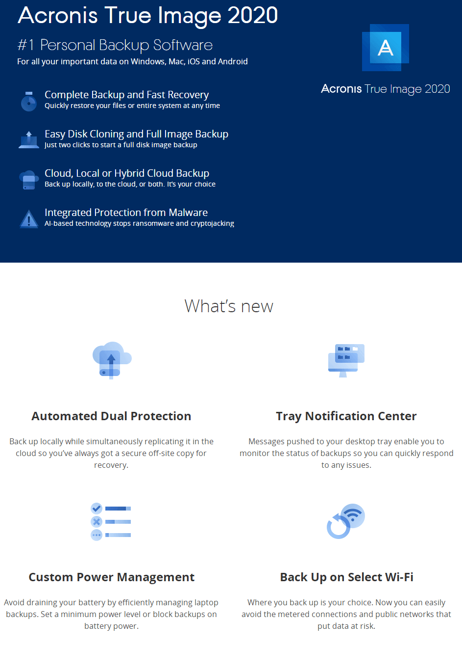 Acronis True Image-Funktion
