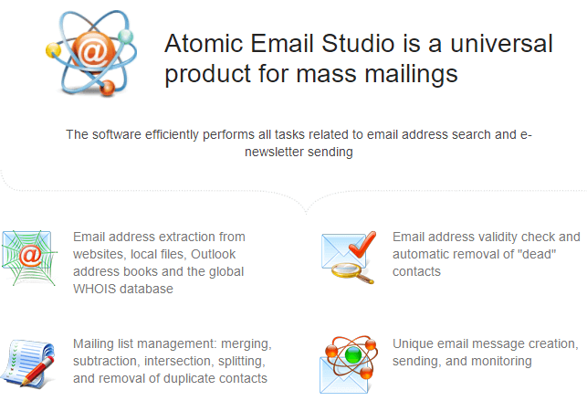 Atomic Email Studio-Funktion