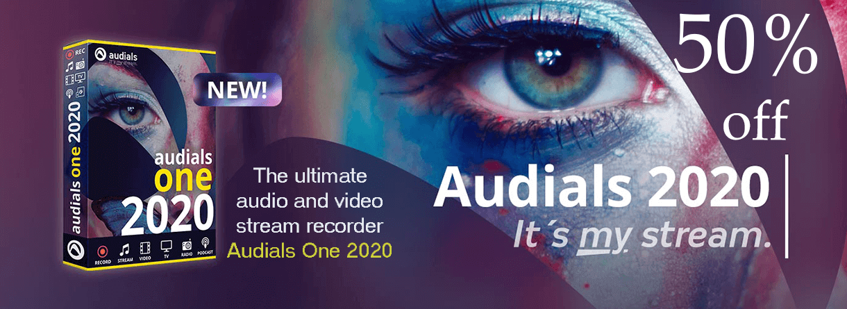 Audials One 2020 at a 50% discount