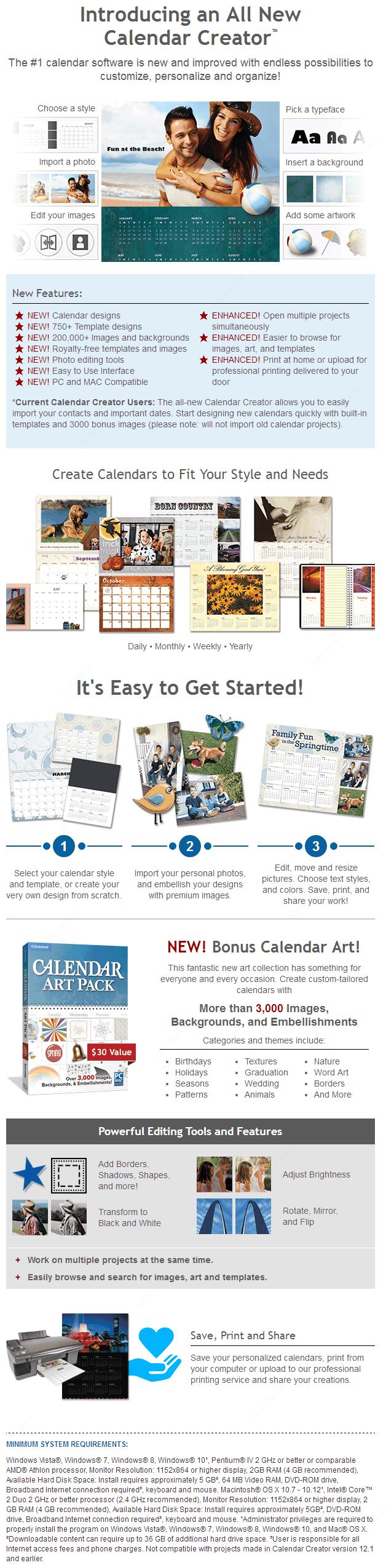 calendar creator online shopping preis gratis testversion