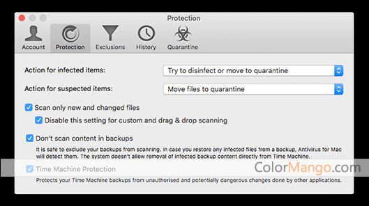 BitDefender Antivirus for Mac Bildschirmfoto