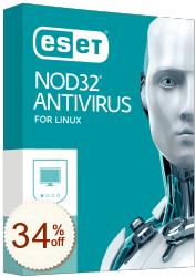 ESET NOD32 Antivirus für Linux Discount Coupon