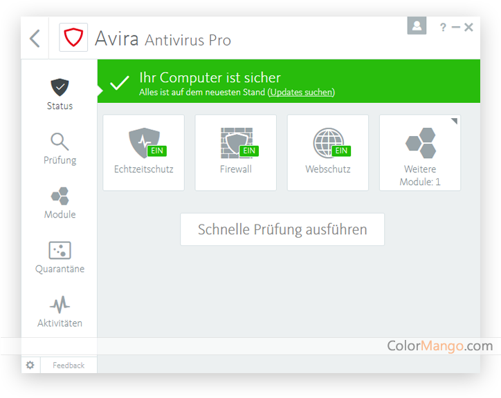 Avira Antivirus Pro Screenshot