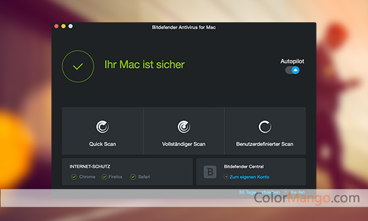 BitDefender Antivirus for Mac Screenshot
