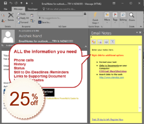 EmailNotes for Outlook Discount Coupon