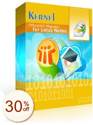 Kernel Office 365 Migrator for Lotus Notes Discount Coupon