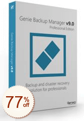 Genie Backup Manager Pro Discount Coupon